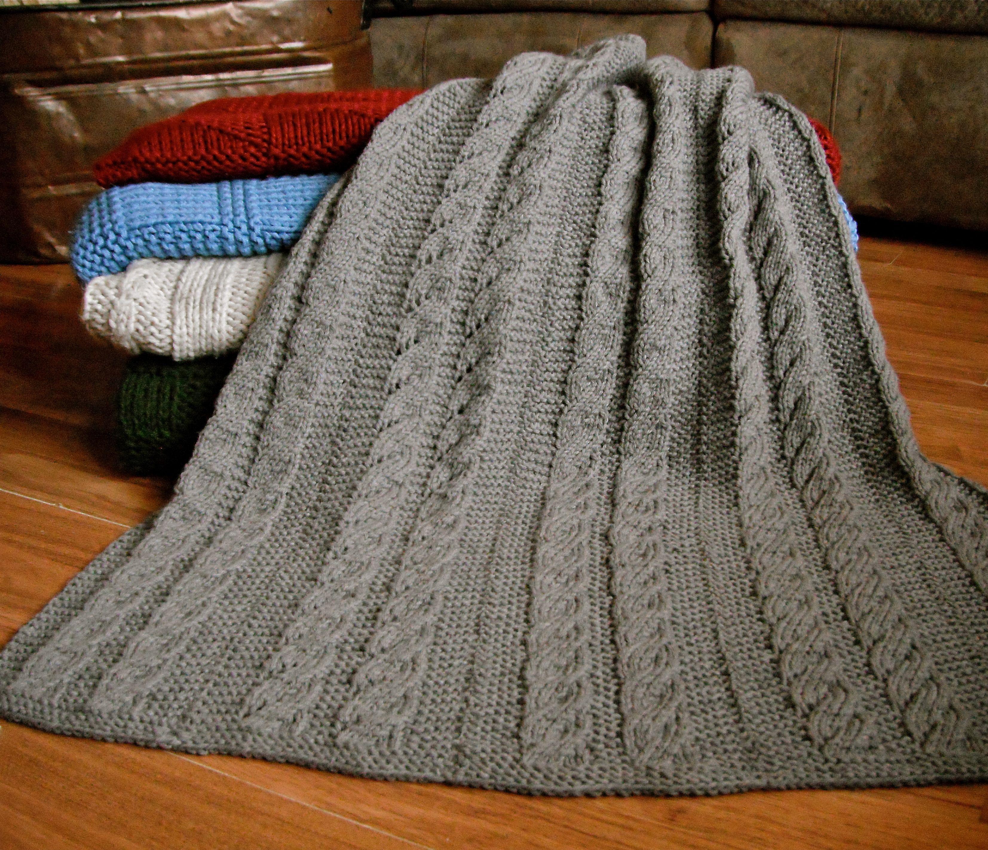 Knit Blanket Pattern Spiral Columns Ba Blanket Pattern Knitting Patterns And Crochet