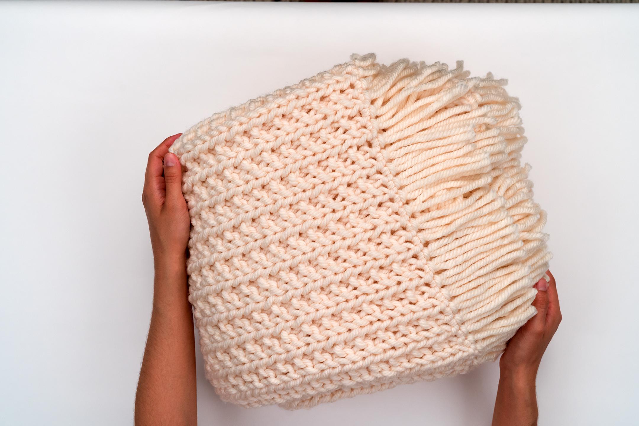 Knit Blanket Pattern The Chunky Knit Blanket Pattern Brennaannhandmade Hobium Blog