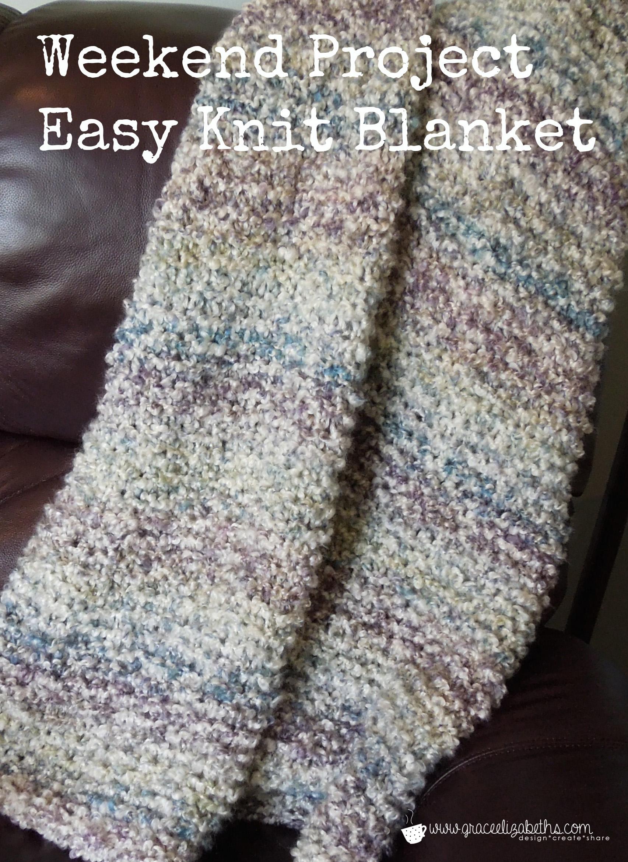 Knit Blanket Pattern Weekend Project Free Easy Knit Blanket Pattern Grace Elizabeths
