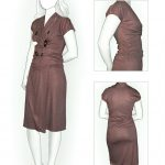 Knit Fabric Patterns Dress From Knit Fabric Sewing Pattern 5854 Made To Measure