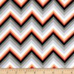 Knit Fabric Patterns Kaufman Laguna Stretch Jersey Knit Chevron Tangerine Discount