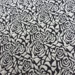 Knit Fabric Patterns Roses Noir Floral Black And Ivory Jacquard Knit Fabric Designer