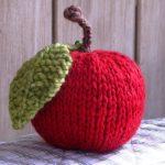 Knit Leaf Pattern Free Apple Knitting Pattern Tutorial Natural Suburbia