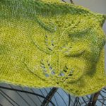 Knit Leaf Pattern Free Balls To The Walls Knits Twin Leaf Cowl