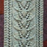 Knit Leaf Pattern Free Brookes Column Of Leaves Knitted Scarf Pattern