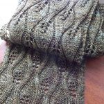 Knit Leaf Pattern Free Candle Flame Scarf Free Knitting Pattern Knitting Bee