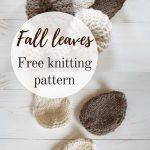 Knit Leaf Pattern Free Knit Autumn Leaves Free Pattern Mallooknits