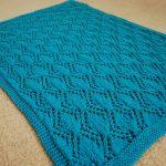 Knit Leaf Pattern Free Knitwit Pattern Release Gothic Leaves Ba Blanket
