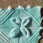 Knit Leaf Pattern Free Leaf Square Ba Blanket