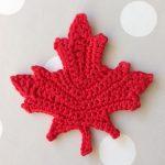 Knit Leaf Pattern Free Link To Free Maple Leaf Pattern Crochet
