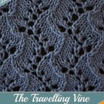 Knit Leaf Pattern Free Travelling Vine Stitch Eknitting Stitches