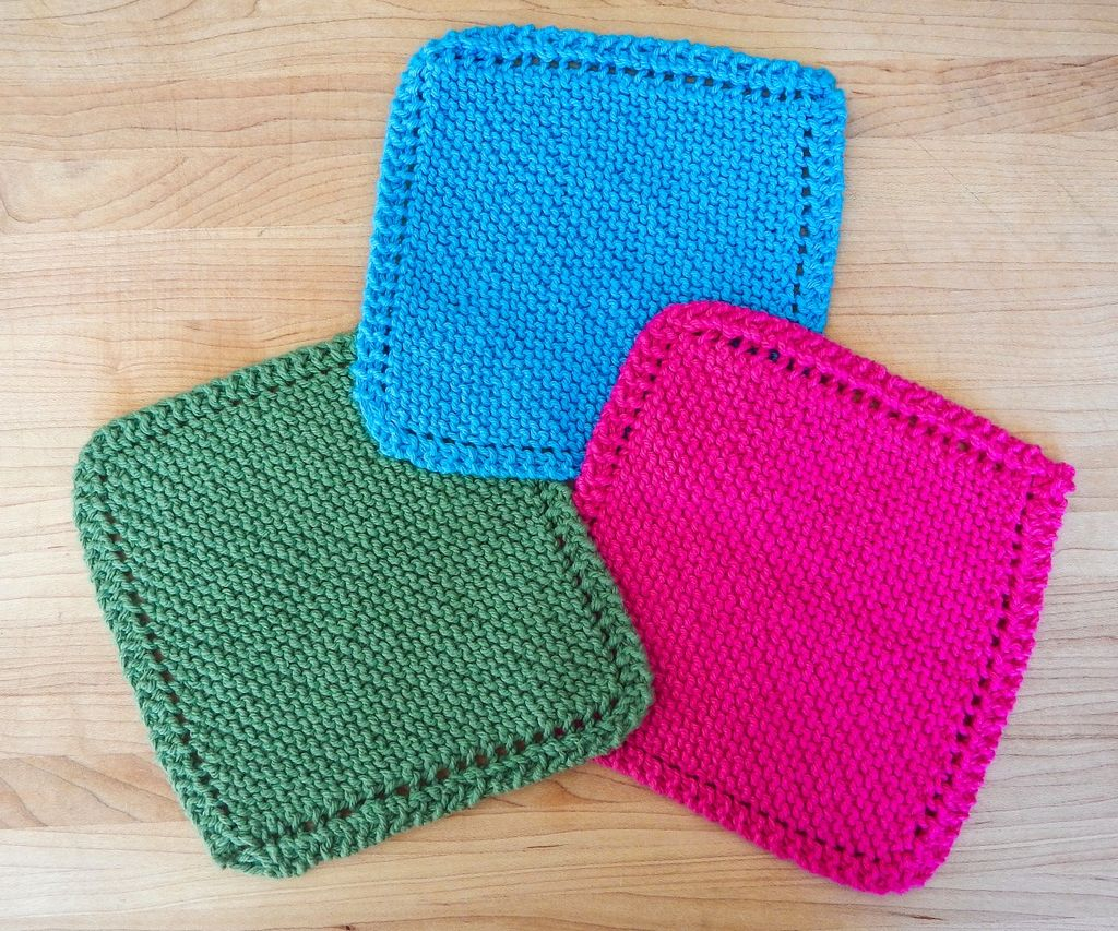 Knit Washcloth Pattern Easy Easy Knit Dishcloth Washcloth 3 Steps With Pictures