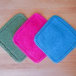 Knit Washcloth Pattern Free Easy Easy Knit Dishcloth Washcloth 3 Steps With Pictures