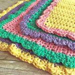Knit Washcloth Pattern Free Easy Emma Washcloth Free Crochet Pattern Swanjay
