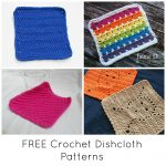 Knit Washcloth Pattern Free Easy Free Quick Cute Crochet Dishcloth Patterns