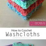 Knit Washcloth Pattern Free Easy How To Crochet Washcloths Tutorial Crafty Stuff Pinterest
