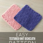 Knit Washcloth Pattern Free Easy New Free Pattern Textured Knit Dishcloth Pattern Just Be Crafty