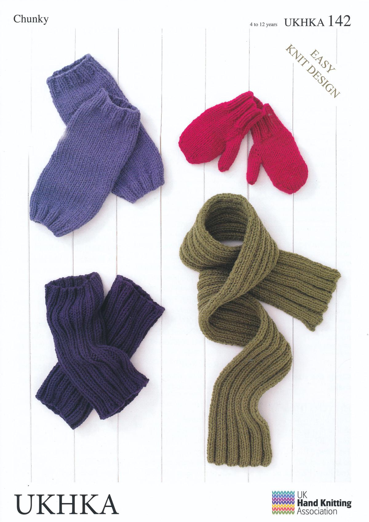 Knitting Patterns Easy Scarf Chunky Knitting Pattern Ukhka 142 Easy Knit Childrens Mittens Leg