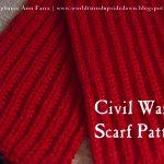 Knitting Patterns Easy Scarf World Turnd Upside Down Easy Knitting Civil War Scarf Comforter