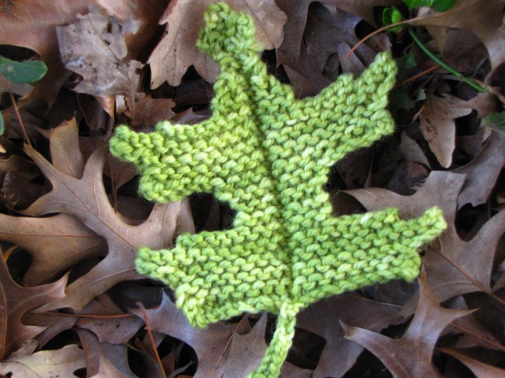 Leaf Knitting Pattern Pin Oak Leaf Knitting Pattern Natural Suburbia
