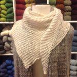 Mohair Knitting Patterns Shawl Basic Wedge Shawl Free Pattern Three Bags Full Yarn Store