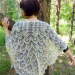 Mohair Knitting Patterns Shawl Blossom Shawl Hand Knitting Shawl For Wedding Knitted Shawl