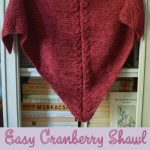 Mohair Knitting Patterns Shawl Knitting Pattern Easy Cranberry Shawl Underground Crafter