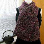 Mohair Knitting Patterns Shawl Lady Violettes Djidji Hand Knitted Winter Scarf Of Vintage Boucle