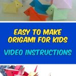 Origami Animals Instructions Easy Origami For Kids Animals With Video Instructions