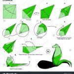 Origami Animals Instructions Origami Animal Snake Cobra Diagram Instructions Stock Illustration