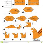 Origami Animals Instructions Step Step Instructions How To Make Origami A Squirrel Stock
