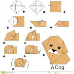 Origami Animals Instructions Step Step Instructions How To Make Origami Dog Stock Vector