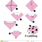 Origami Animals Instructions Step Step Instructions How To Make Origami Ladybug Stock Vector