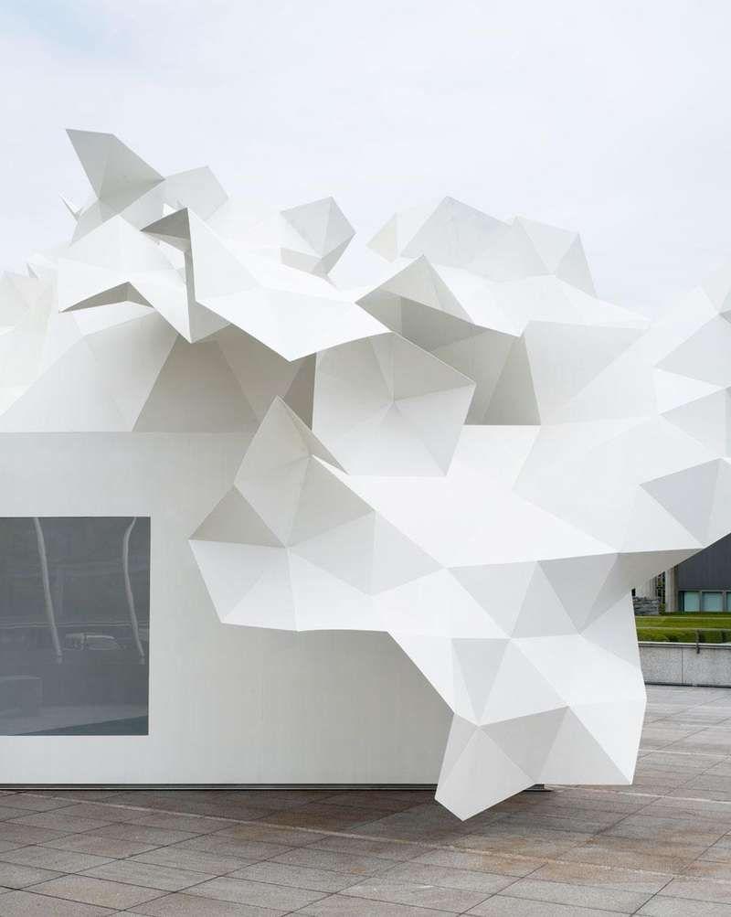 Origami Architecture Design Crumpled Paper Canopies Architecture Pinterest Architecture