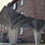 Origami Architecture Design Gallery Of Origami Pavilion Creates Shelter With 8 Folded Aluminum