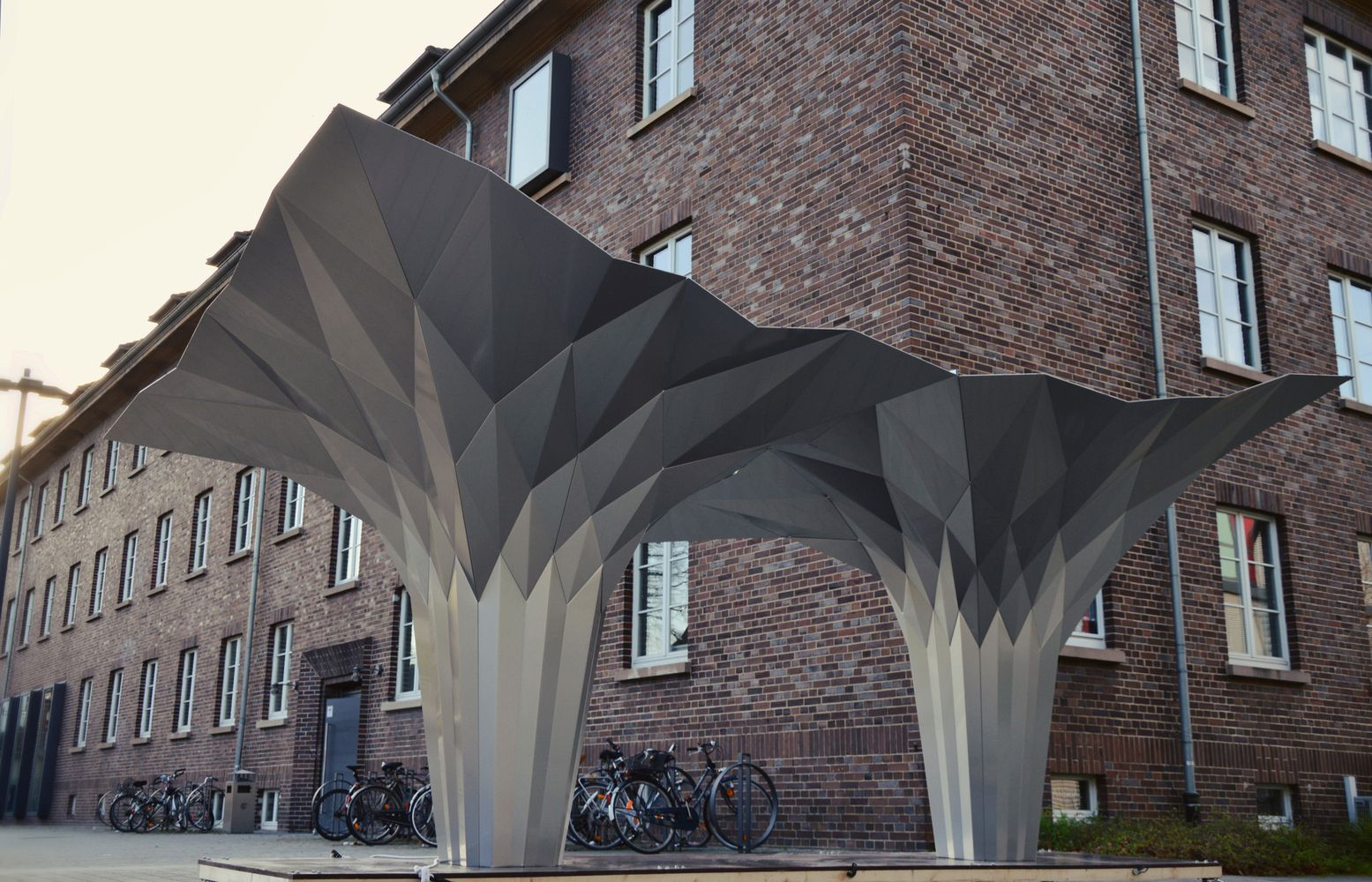 Origami Architecture Design Gallery Of Origami Pavilion Creates Shelter With 8 Folded Aluminum