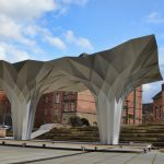 Origami Architecture Design Tal Friedmans Origami Pavilion Is An Ultra Modern Interpretation Of