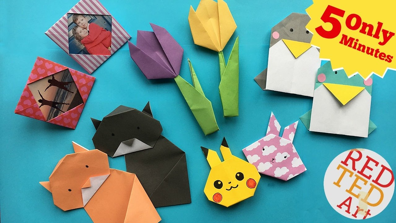 Origami Art Projects How To Make Best 5 Minute Crafts 5 Quick Easy Origami Projects Easy