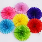 Origami Crafts Decoration Decorative Crafts 25cm 1pcs Flower Origami Paper Fan Wedding