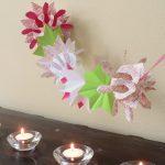 Origami Crafts Decoration Diwali Kids Craft Origami Paper Garland Montessori