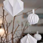 Origami Crafts Decoration Diy Dcoration De Nol Boules Origami Diamants En Papier Diy