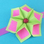 Origami Crafts Decoration Easy Paper Flower For Rakhi Bracelet Greeting Card Room Decor Diy