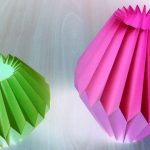 Origami Crafts Decoration Home Decor Paper Crafts For Light Bulb Srujanatv Youtube