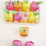 Origami Crafts Decoration Origami Fruit Diy Party Craft Or Fun Decor Idea For A Nursery Or