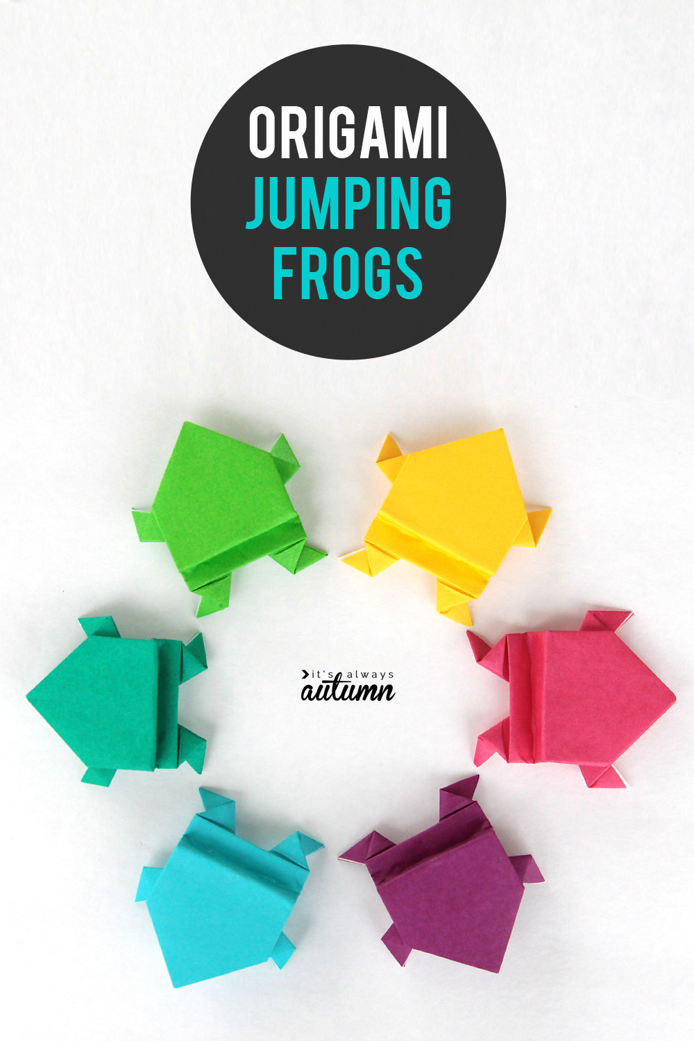 Origami Crafts For Kids Make An Origami Frog That Really Jumps Its Always Autumn