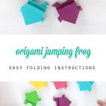 Origami Crafts For Kids Make An Origami Frog That Really Jumps Kinderen Pinterest Nice