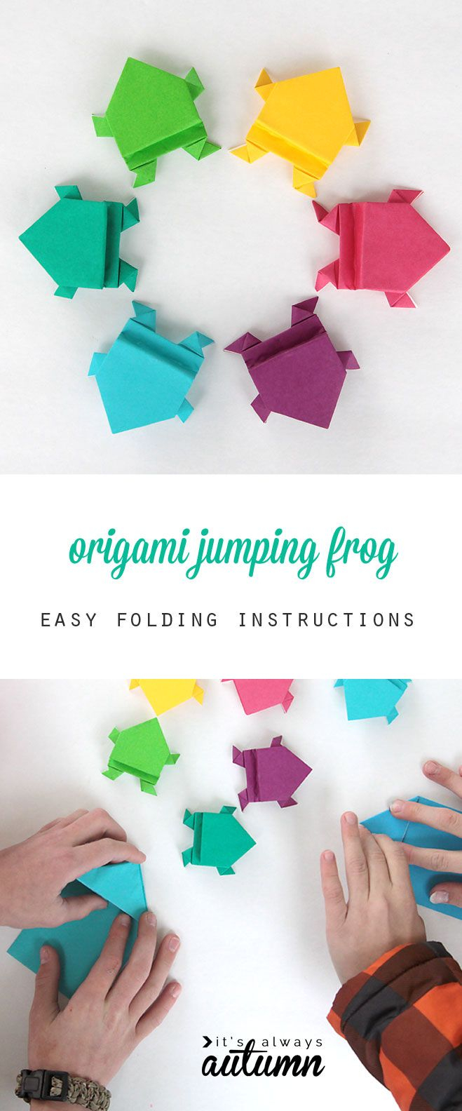 Origami Crafts For Kids Make An Origami Frog That Really Jumps Kinderen Pinterest Nice