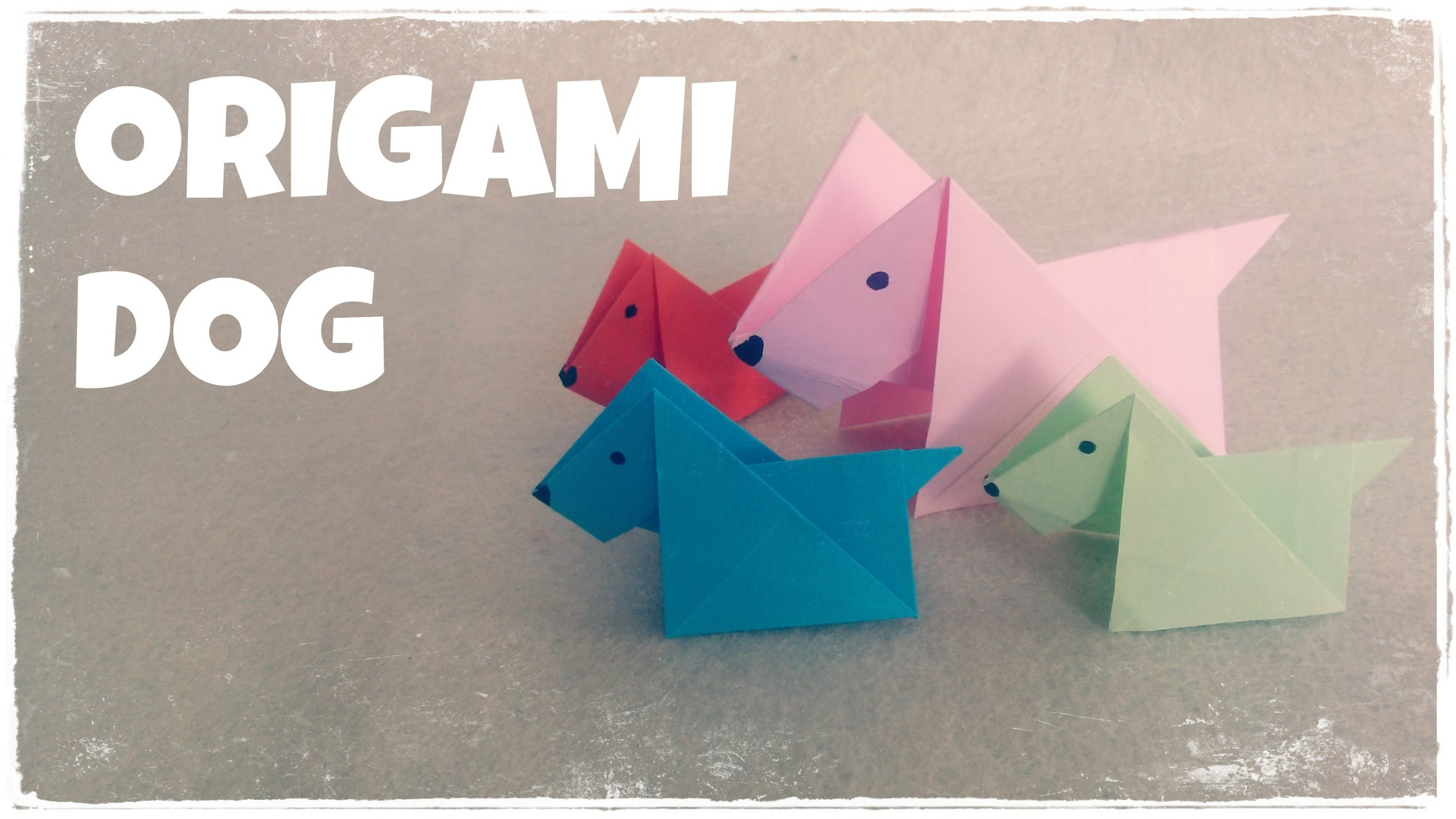Origami Crafts For Kids Origami For Kids Origami Dog Tutorial Very Easy Youtube