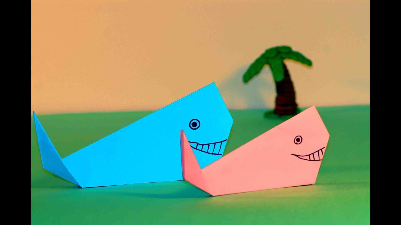 Origami Crafts For Kids Paper Crafts For Kids Easy Origami For Kids Origami Whale Simple