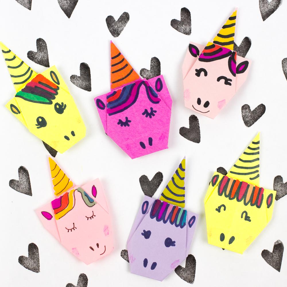 Origami Crafts For Kids Super Cute Origami Unicorns Pink Stripey Socks